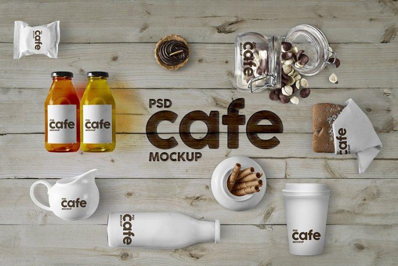 Cafe Branding Mockup PSD