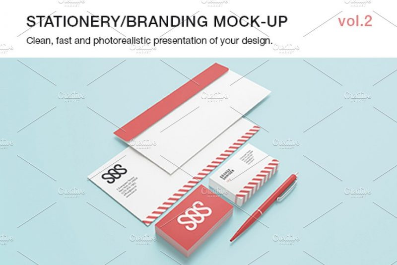 Clean Stationary Branding Mockup