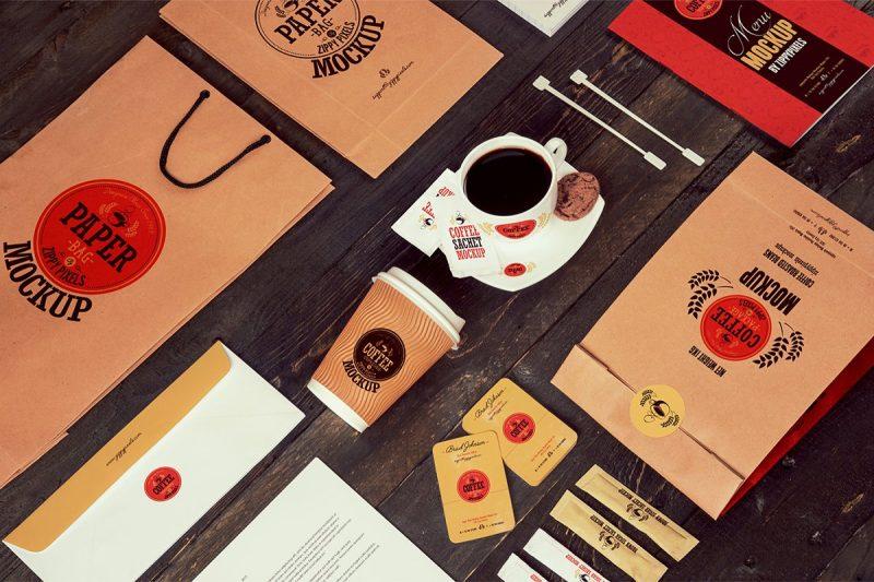 Coffee Branding and Packaging Mockup