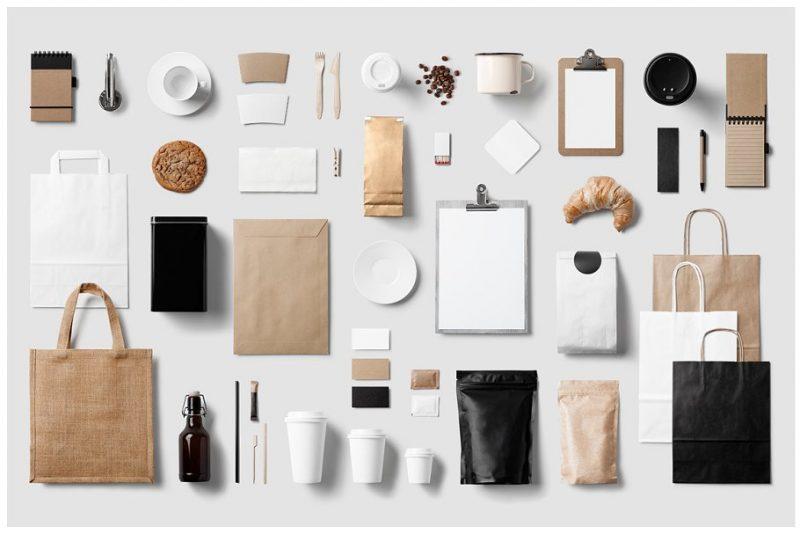 Coffee Stationary Branding Mockup PSD
