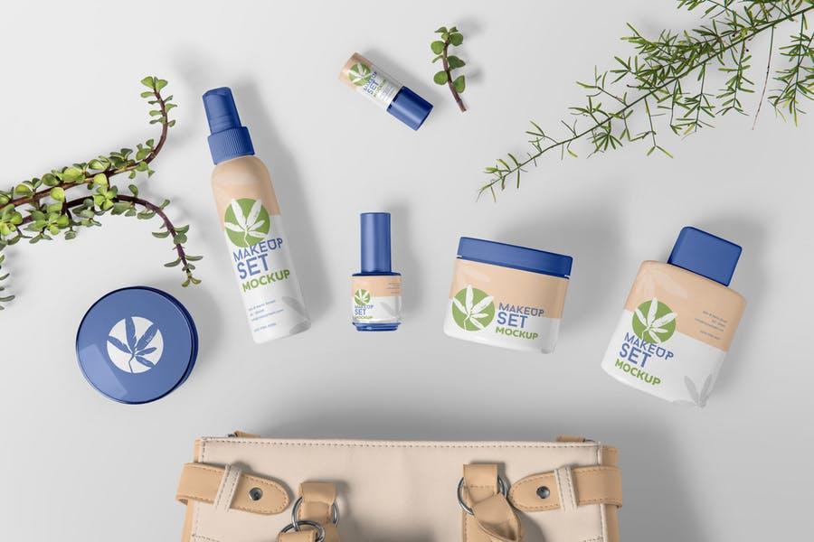 Cosmetics Branding Mockup PSD