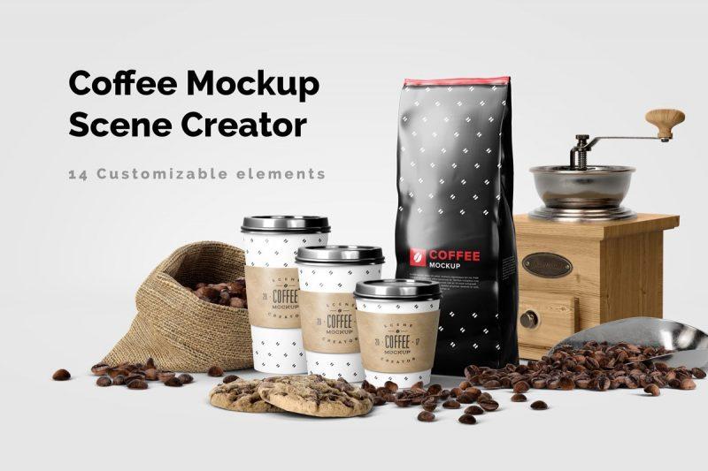 Customizable Coffee Scene Mockup Creator