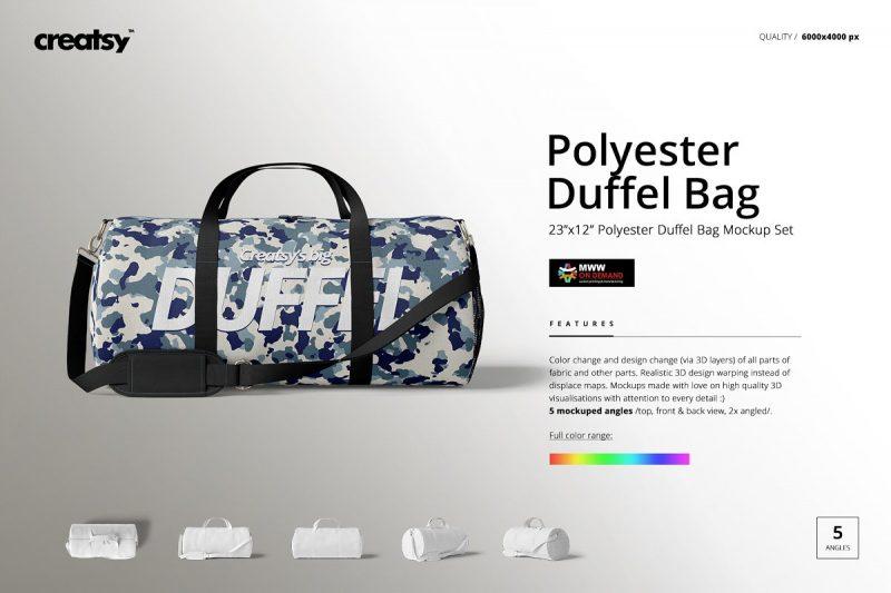 Duffel Bag Mockup PSD