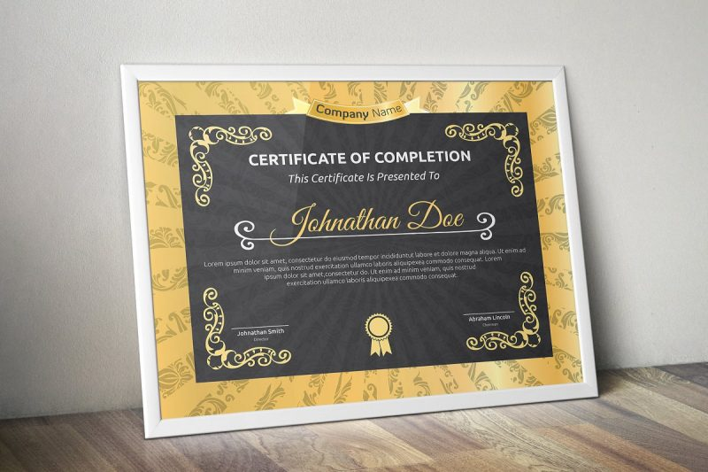 Editable Certificate of Completion Template