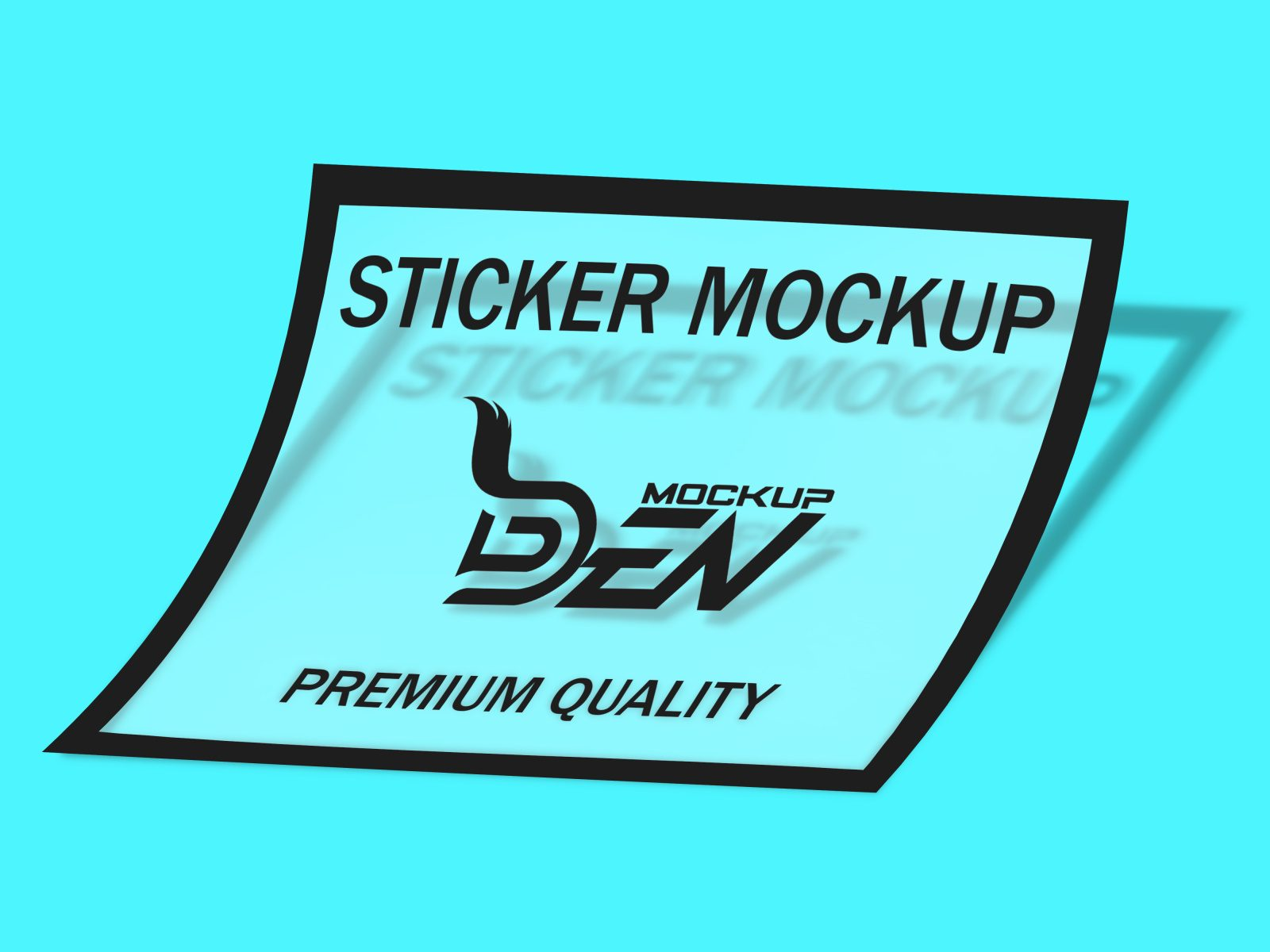Editable Transparent Sticker Mockup