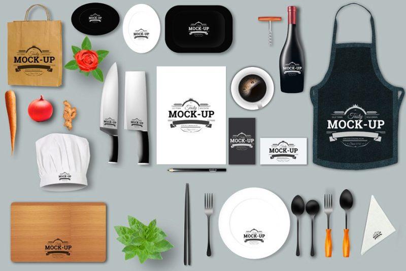 High Resolution Restaurant Branding Mockup