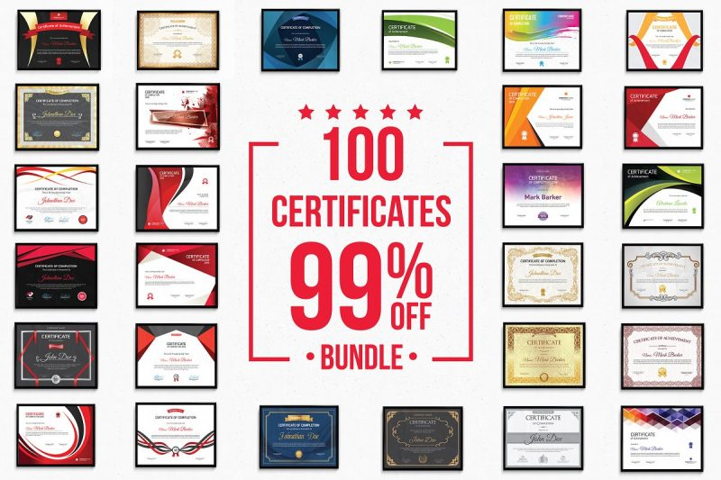 Modern and Vintage Certificate Templates Bundle
