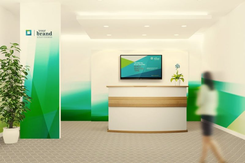 Office Interior Branding PSD