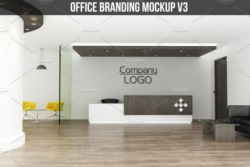 Office Lobby Mockup PSD