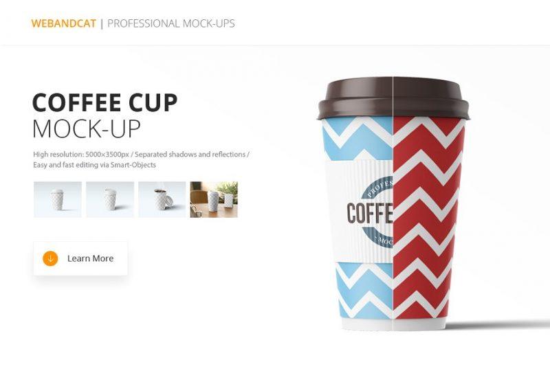 Paper Coffee Mockup PSD