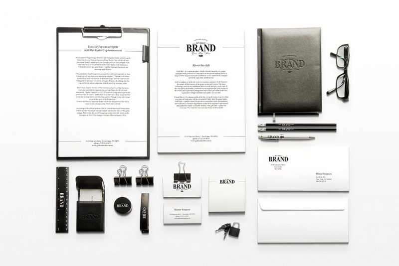 Photo Realistic Branding Mockup PSD