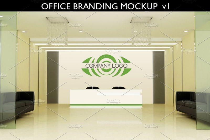 Professional 3D Logo Mockup PSD