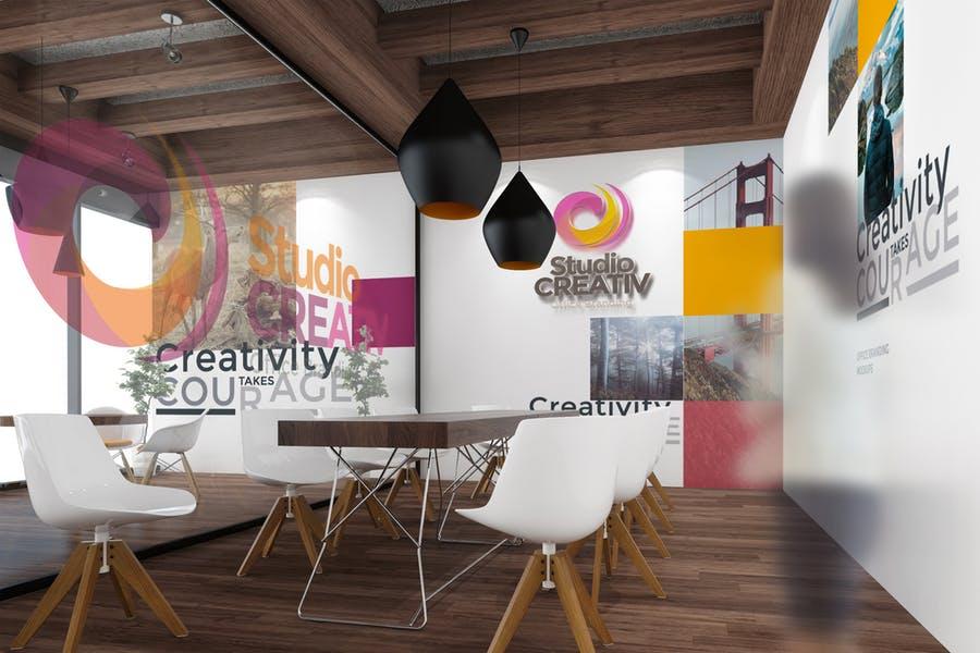 Realistic Studio Branding Mockup