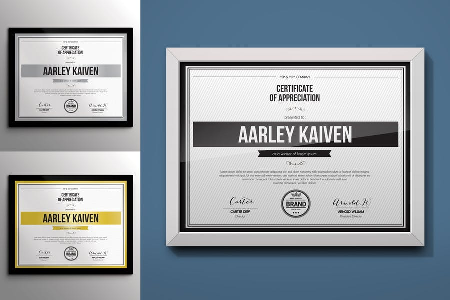 Simple Educational Certificate Template PSD
