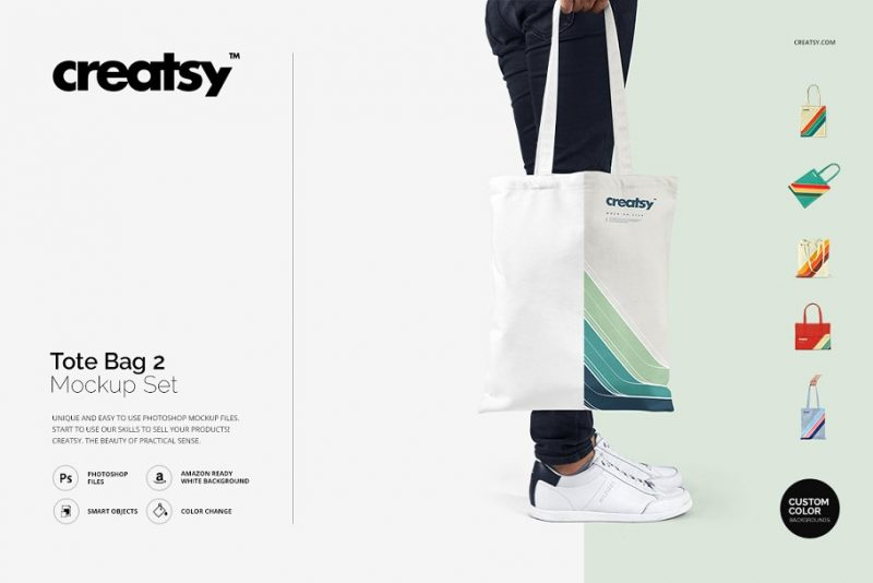 Unique Tote Bag Mockup Set