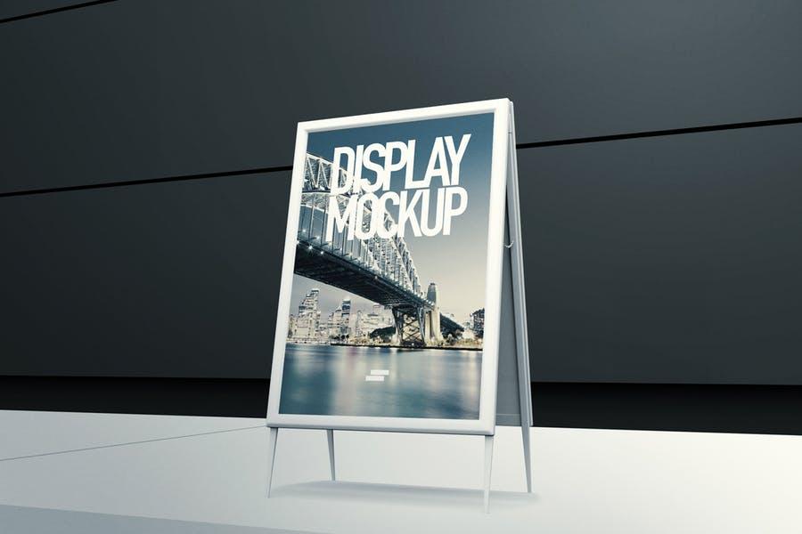 3D Display Banner Mockup