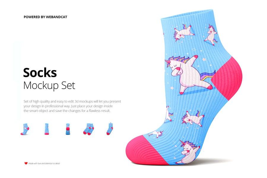 3D Socks Mockup PSD