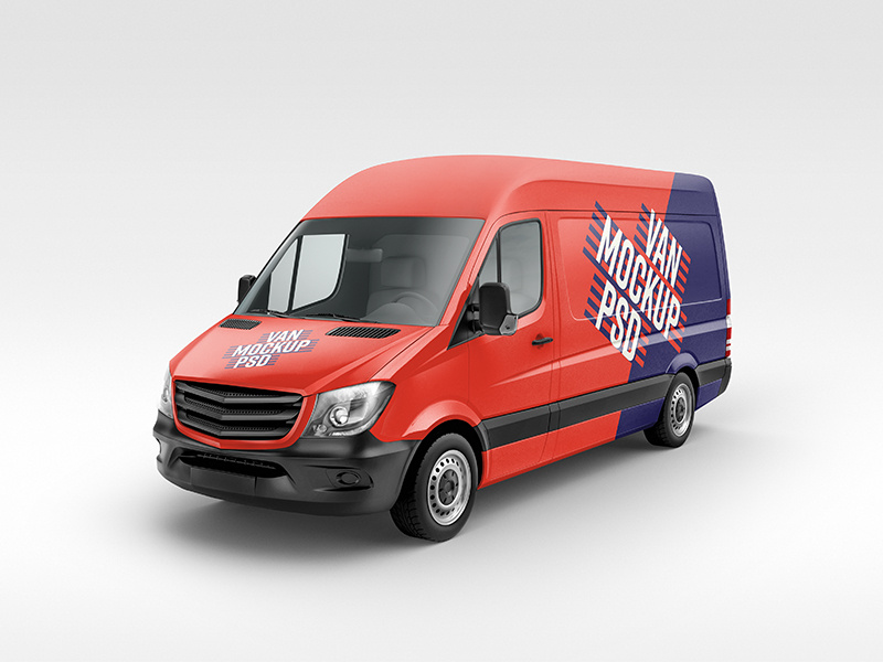 Free High Resolution Van Mockup