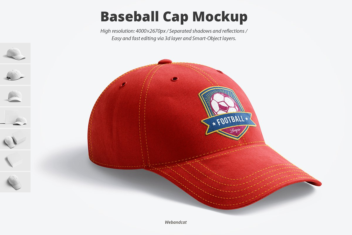 High Resolution Baseball Cap Mockup