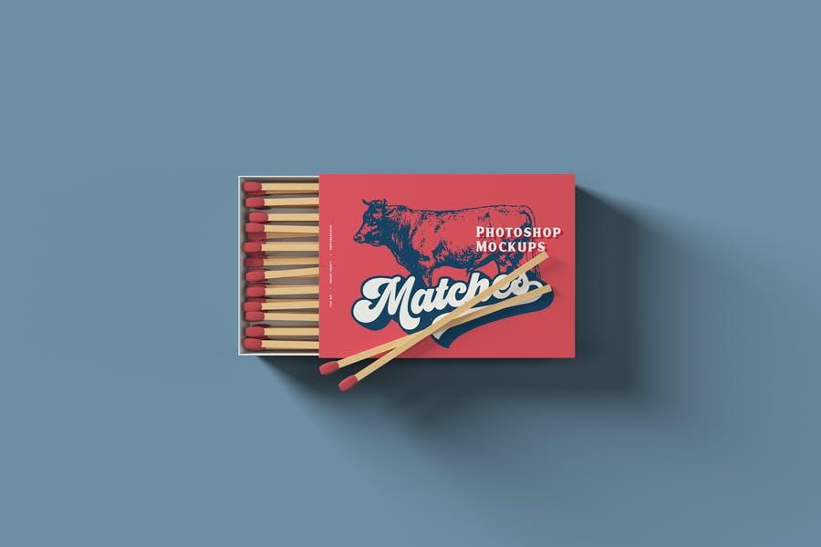 3 Matches Box Mockup PSD