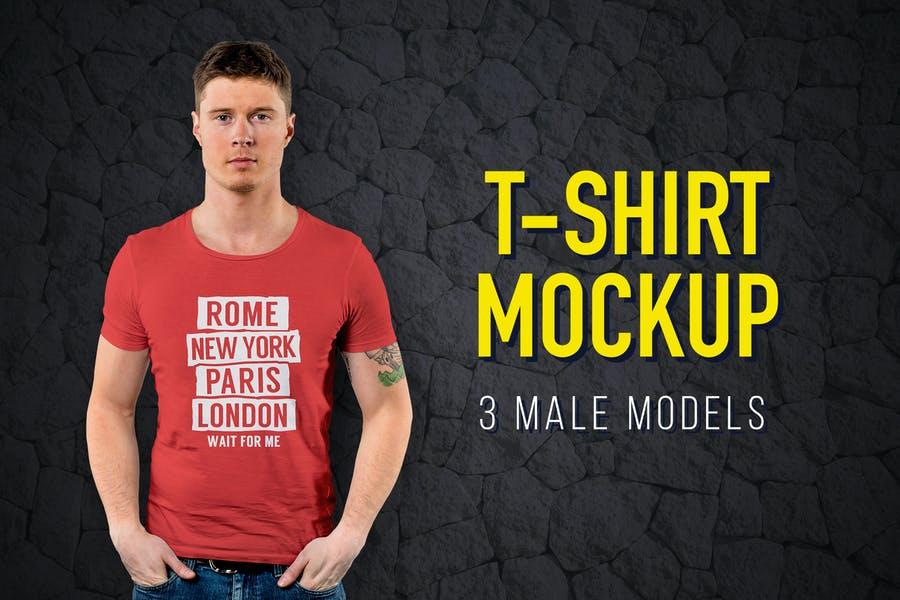 3 T Shirt Branding Mockups