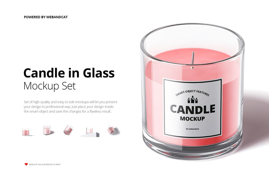 Candle in Glass Mockup Set