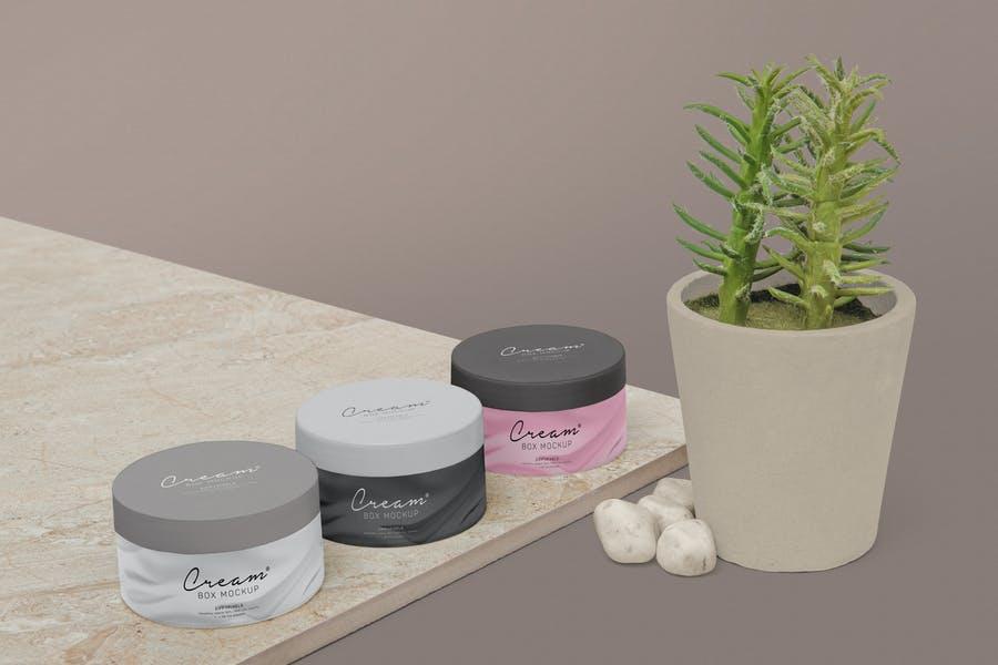 Cosmetics Jar Branding Mockup