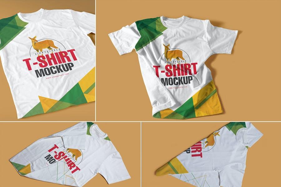 Customizable T Shirt Mockups PSD