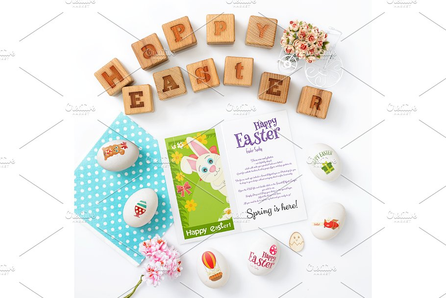 Easter Cards Mockup PSD