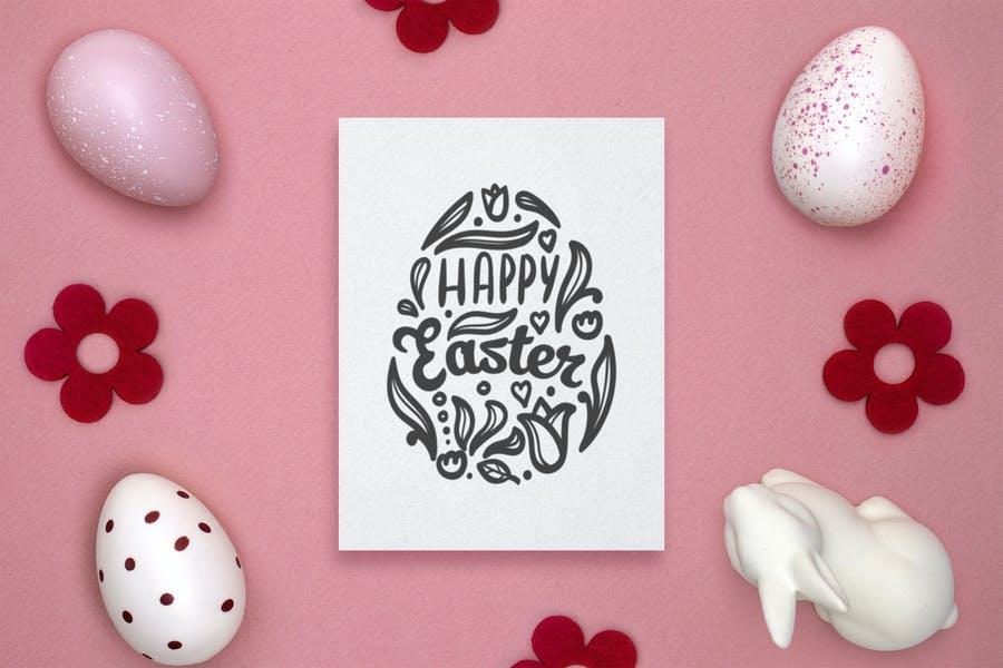Easter Gift Card Mockups PSD