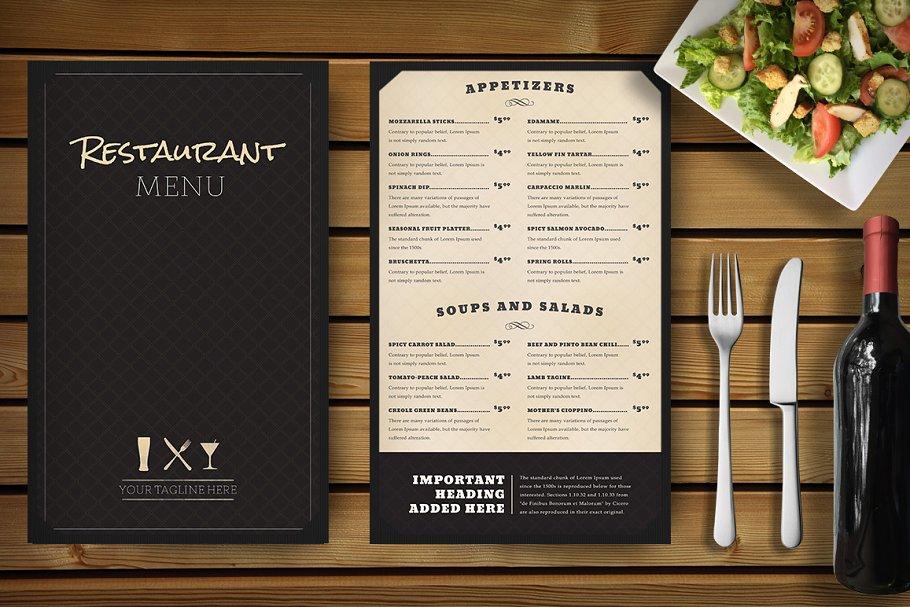 Flat Restaurant Branding Mockup