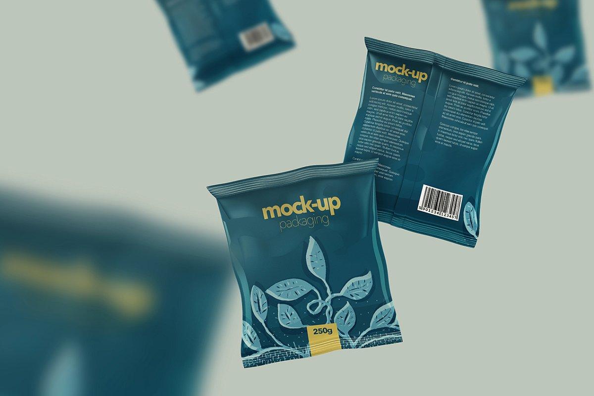 Foil Sachet Branding Mockups