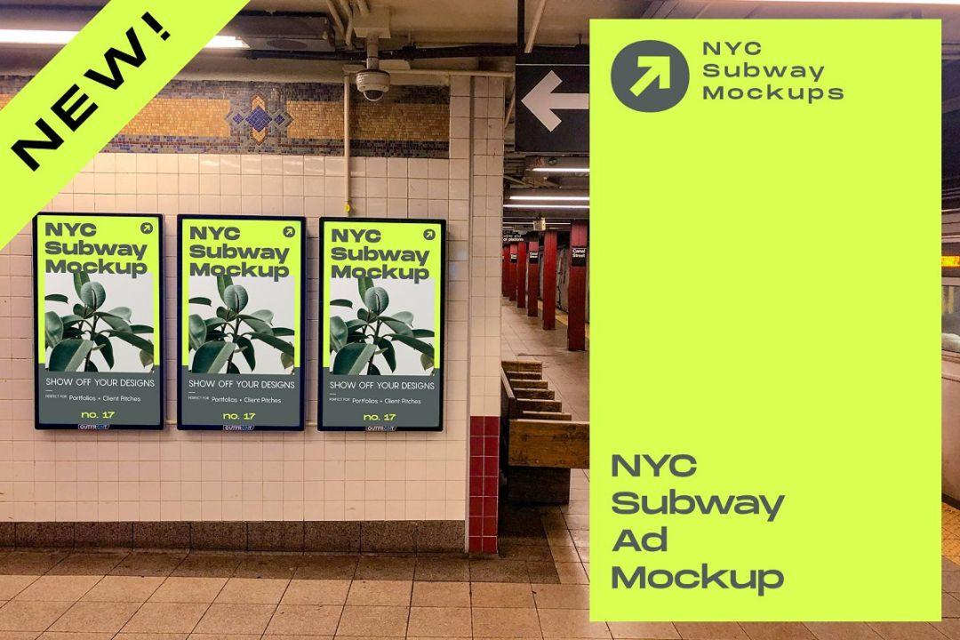Framed Billboard Ad Mockups PSD