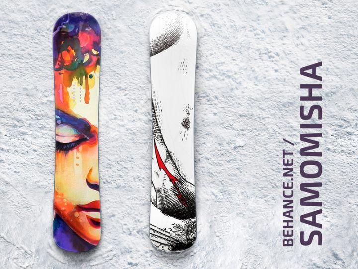 Free Snowboard Mockup PSD