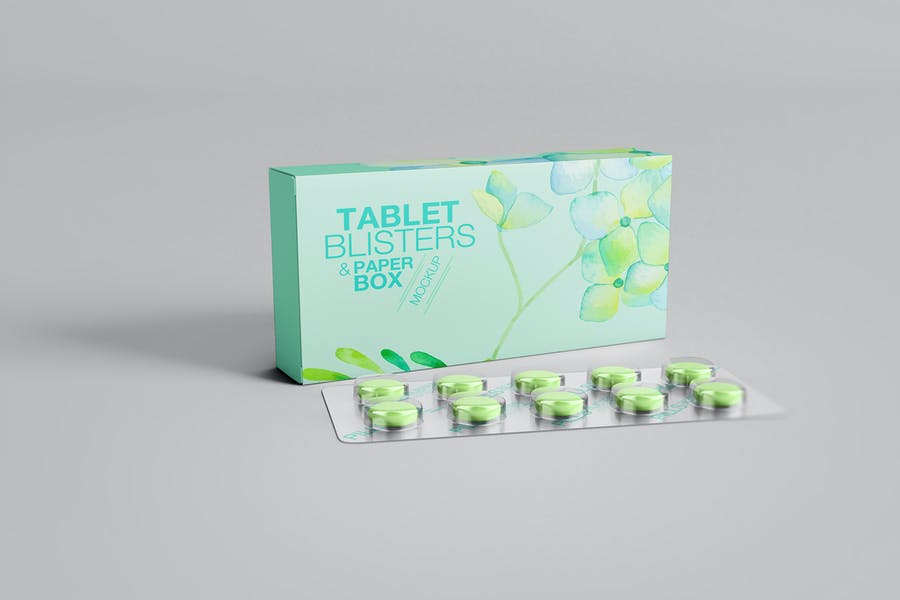 Fully Editable Tablets Packaging Mockup