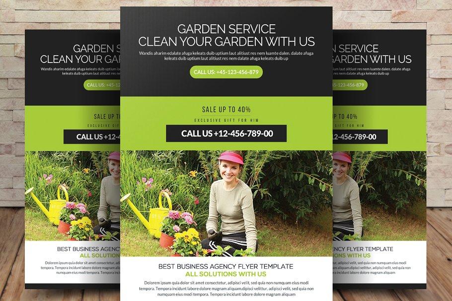 Gardening Flyer Template PSD