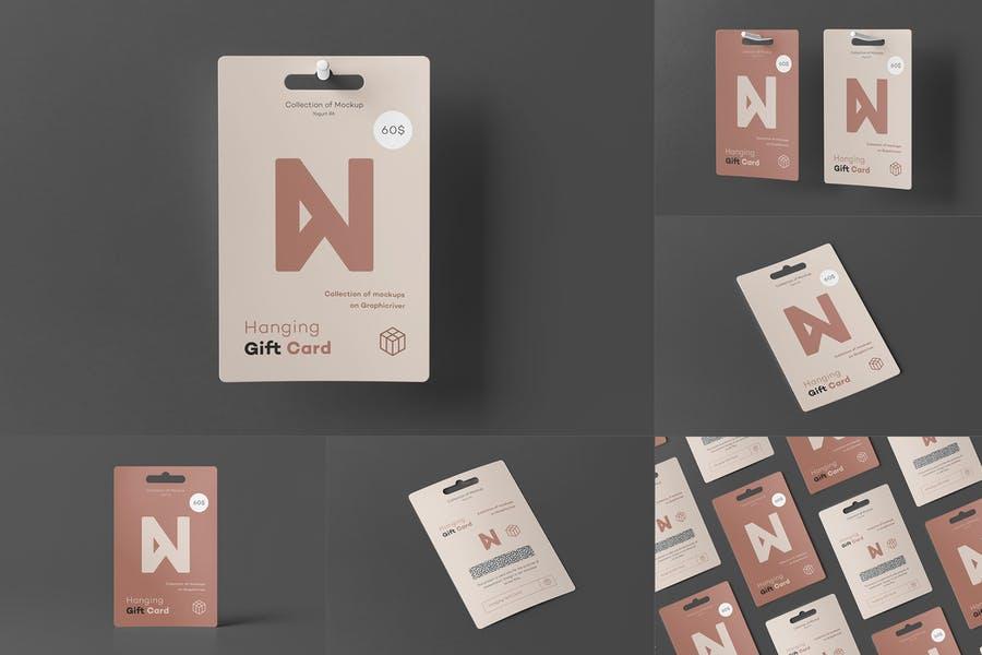 Hanging Gift Card Design Presentation Mockup