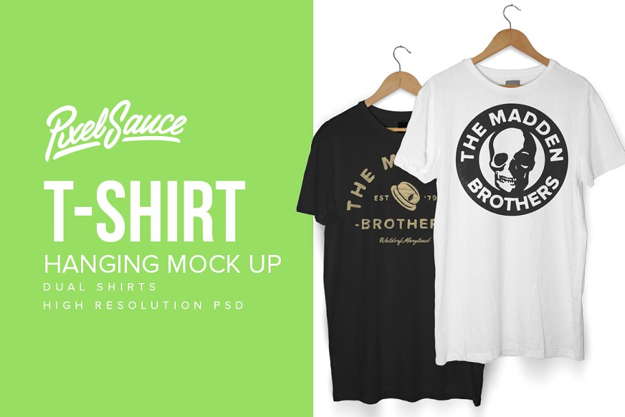 Hanging T Shirt Mockup PSD