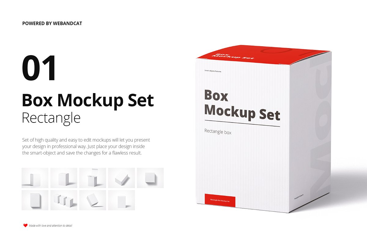 High Resolution Box Mockup PSD