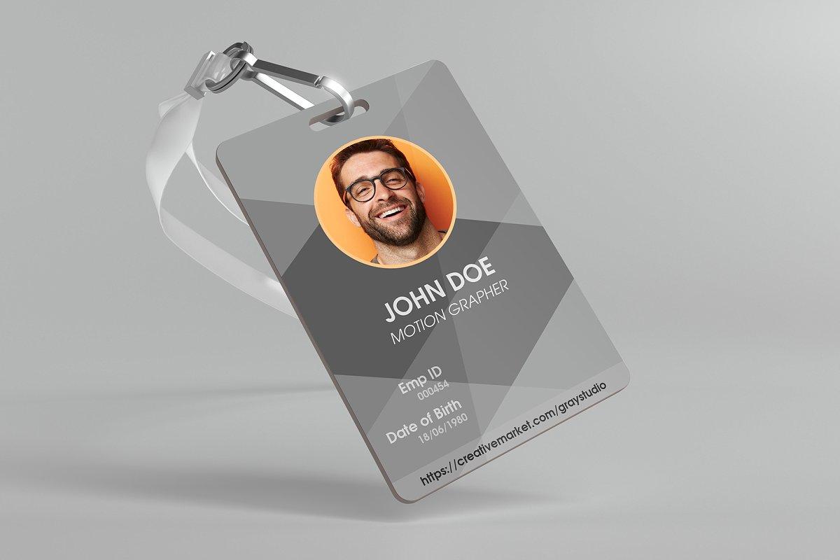 High-Resolution Corporate ID Card Mockup