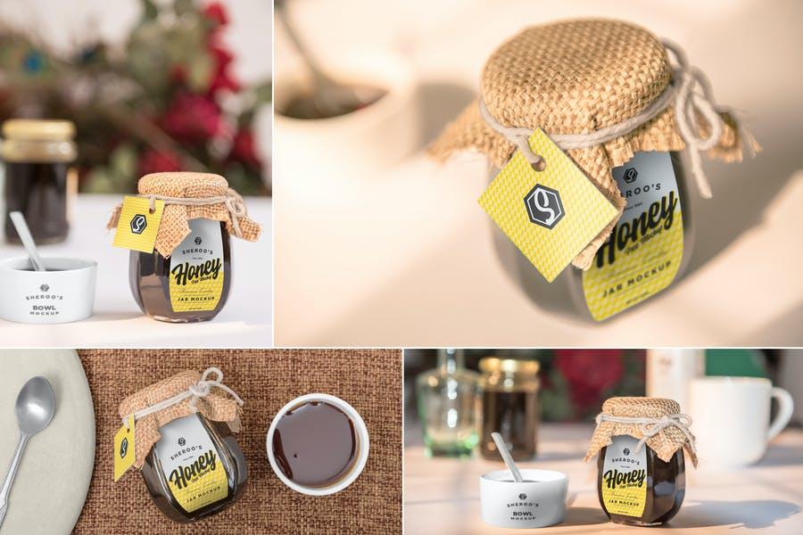 Honey Label Branding MNockup