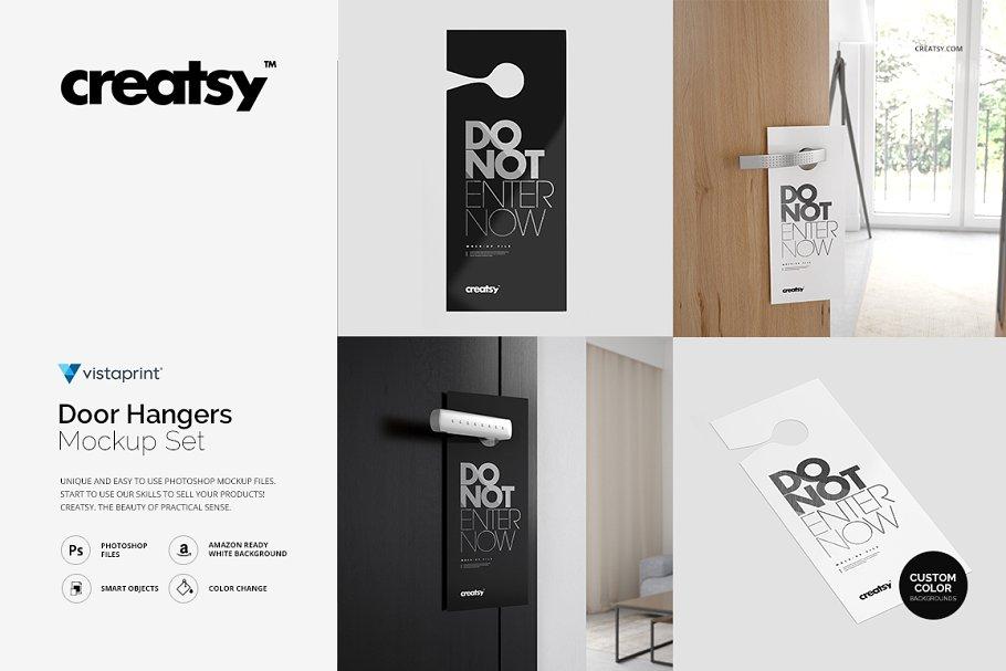 Hotel Door Hangers Branding Mockup PSD