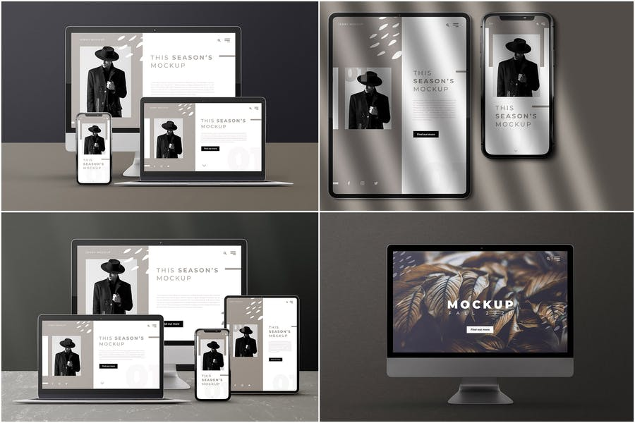 Modern Device Branding Mockup