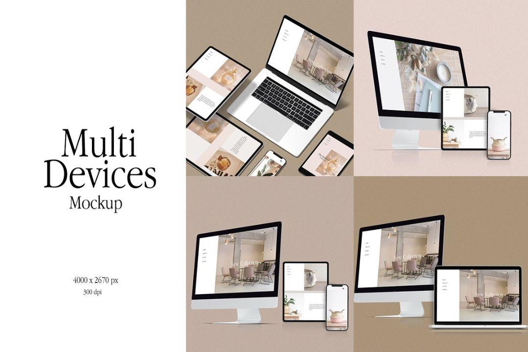Multi Device Responsive Website Mockups