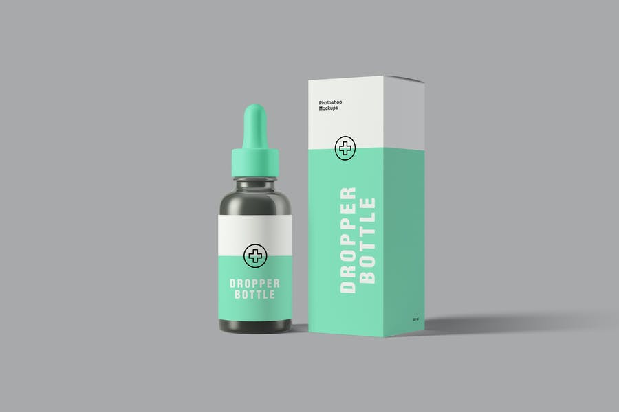 Photo Realistic Dropper Bottle Mockup
