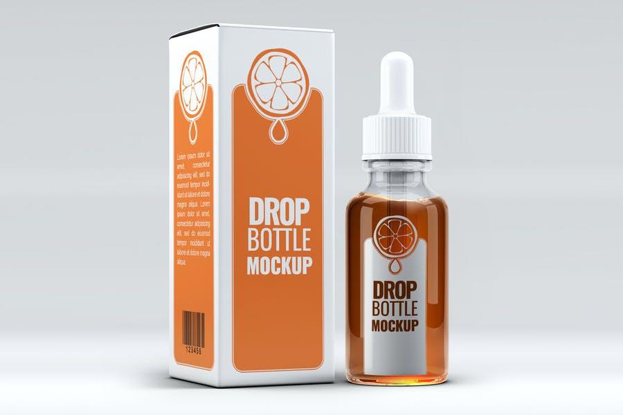 Photorealistic Dropper Bottle Mockup PSD
