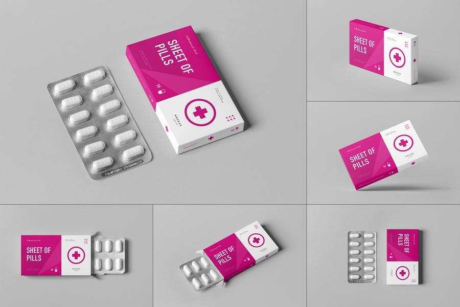 Pills Box Branding Mockup PSD