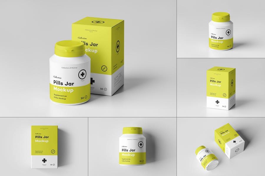 Pills Jar Mockup PSD