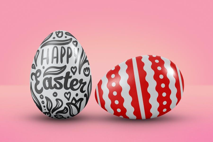 Realistic Easter Egg Mockup PSD