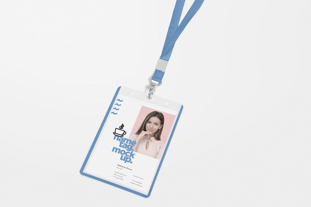 Realistic ID Card Mockups PSD